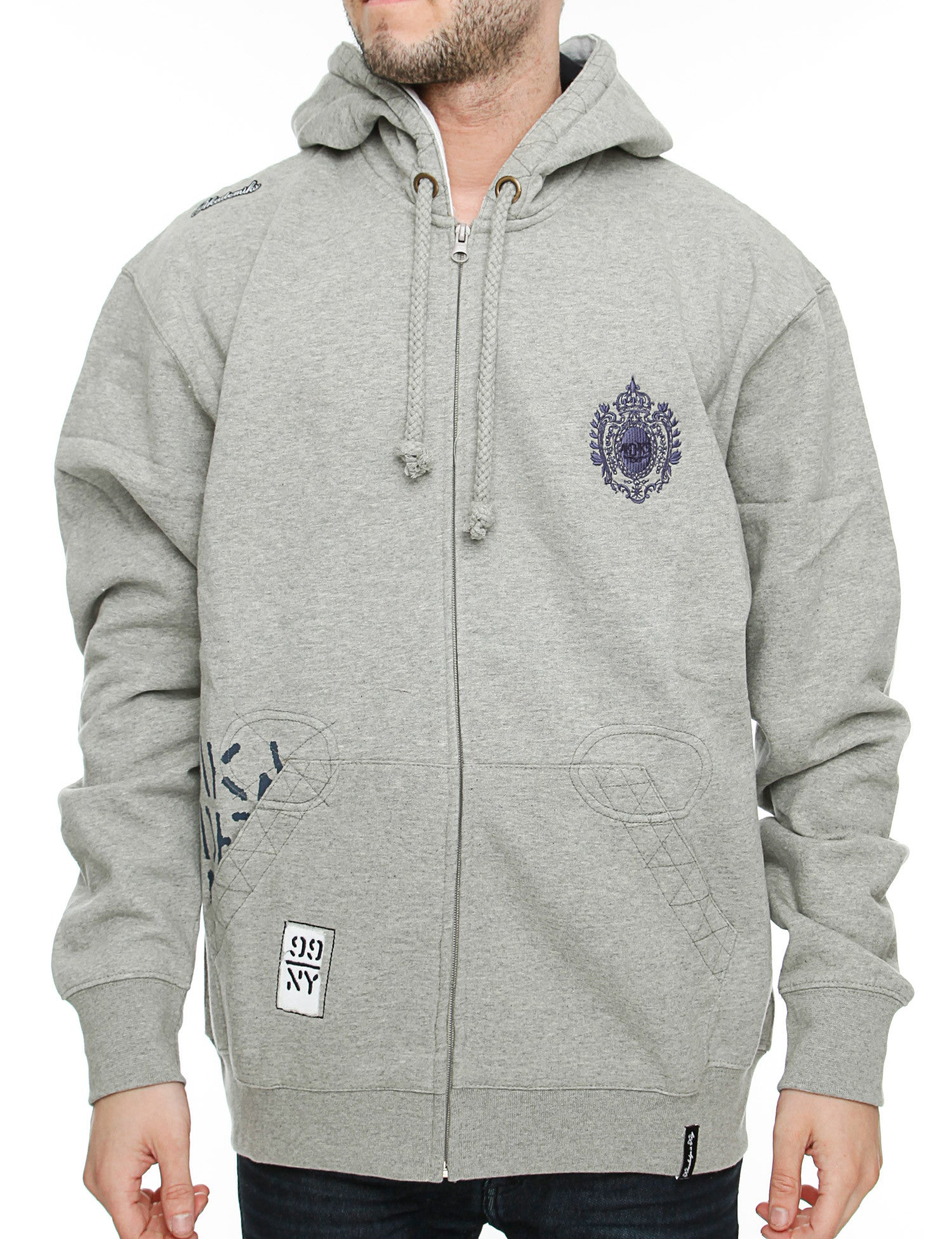Thundar Fleece Hoodie Grey