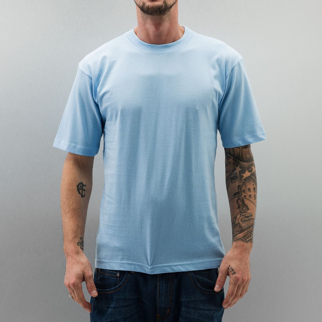 Dangerous DNGRS New York Style Long Tee Sky Blue