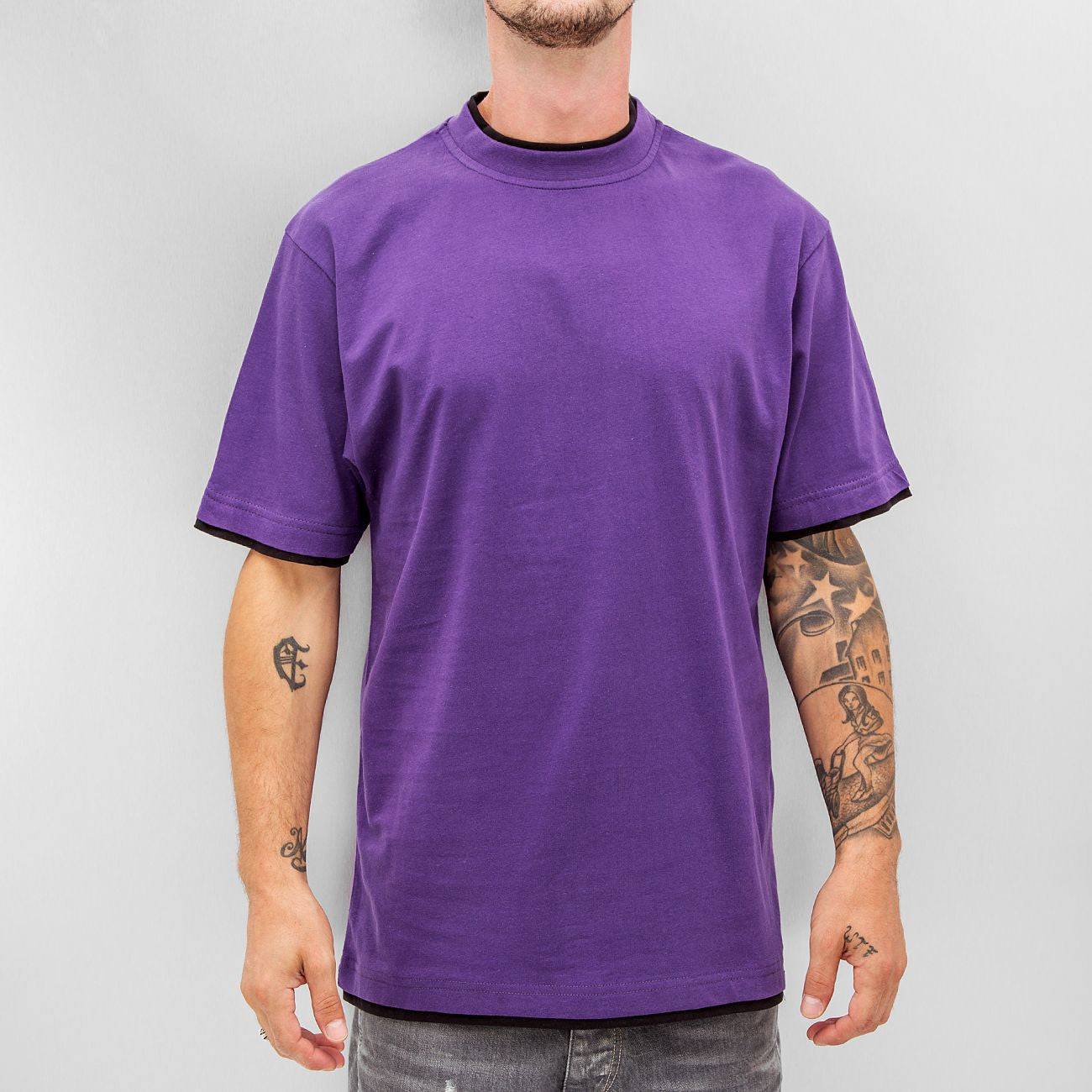 Dangerous DNGRS Two Tone Regular T-Shirt Purple/Black Purple