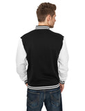 2-Tone College Sweatjacket TB207 Black