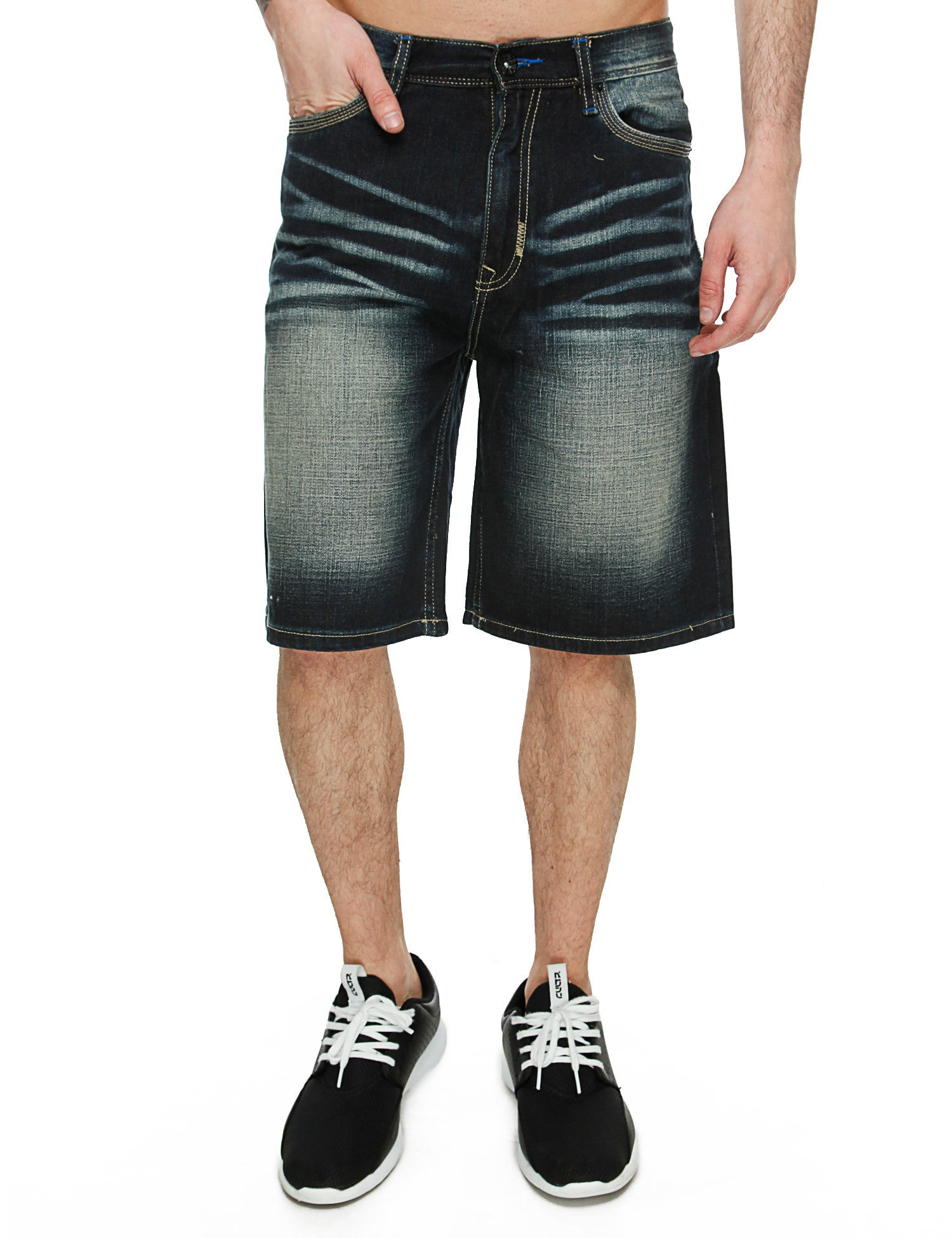 Triple Stripe Pocket Shorts V55P213S Black