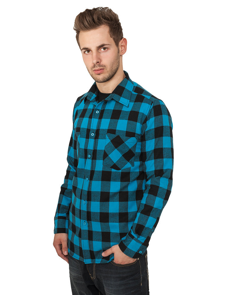 Checked Flanell Shirt TB297 Turquoise