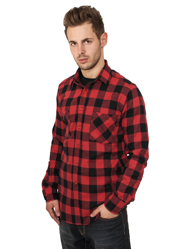 Checked Flanell Shirt TB297 Black