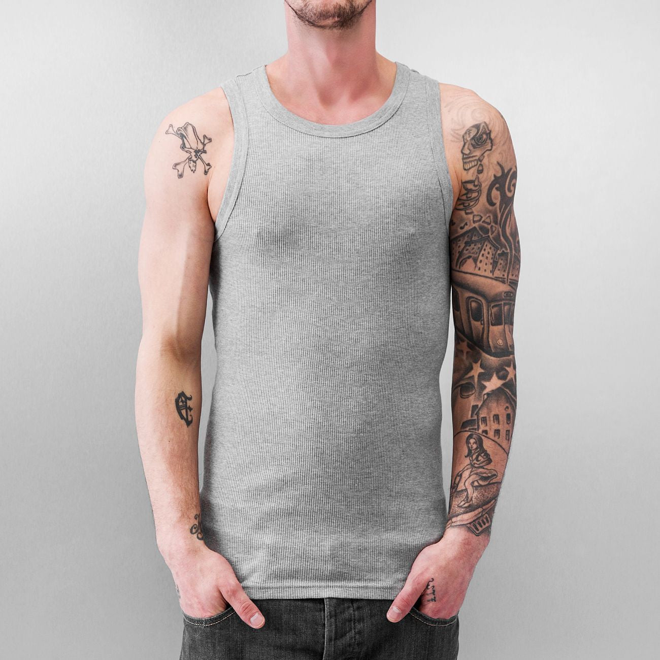 Just Rhyse And Friends Basic Tank Top  Grey