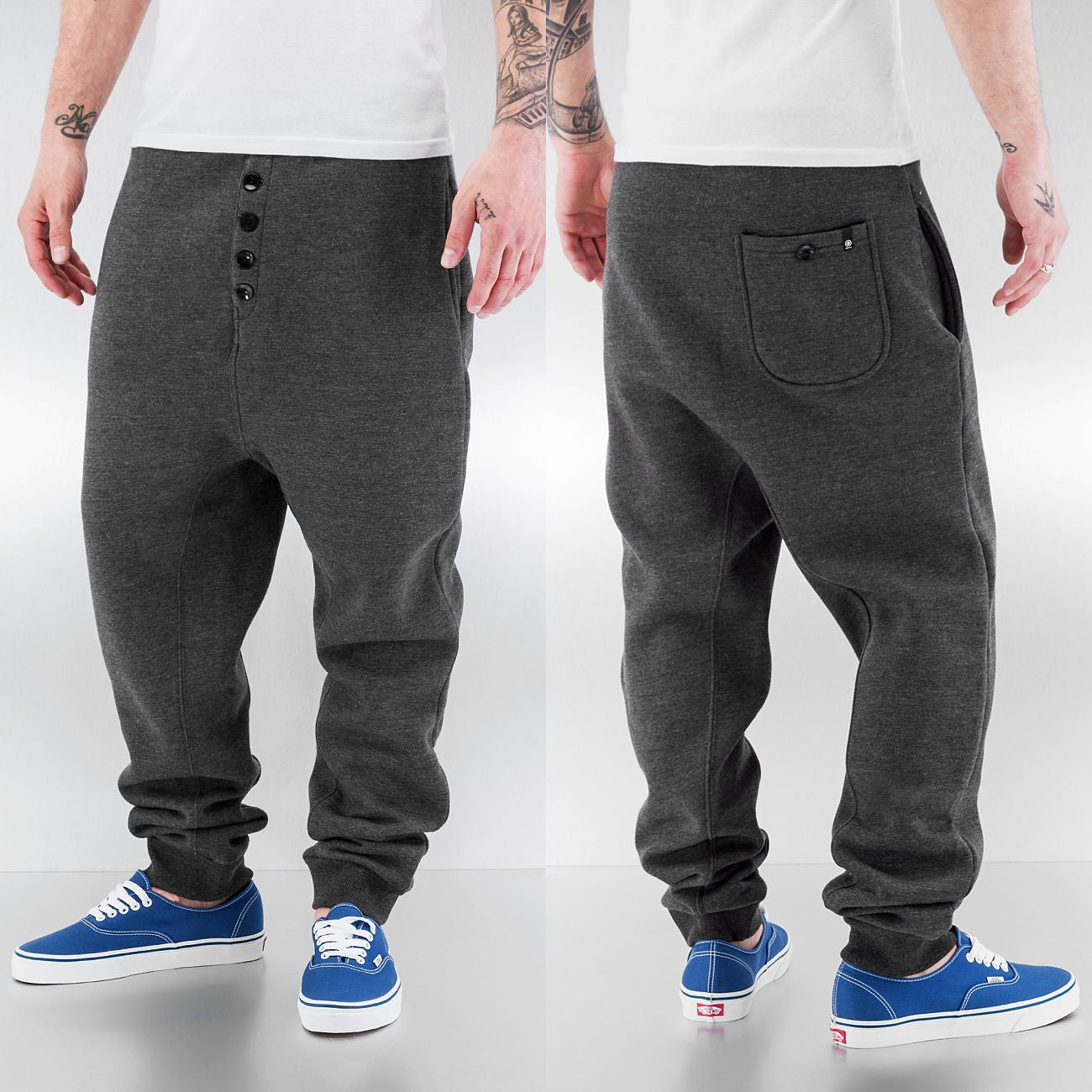 Dangerous DNGRS And Friends Boom Sweat Pants Anthracite Grey