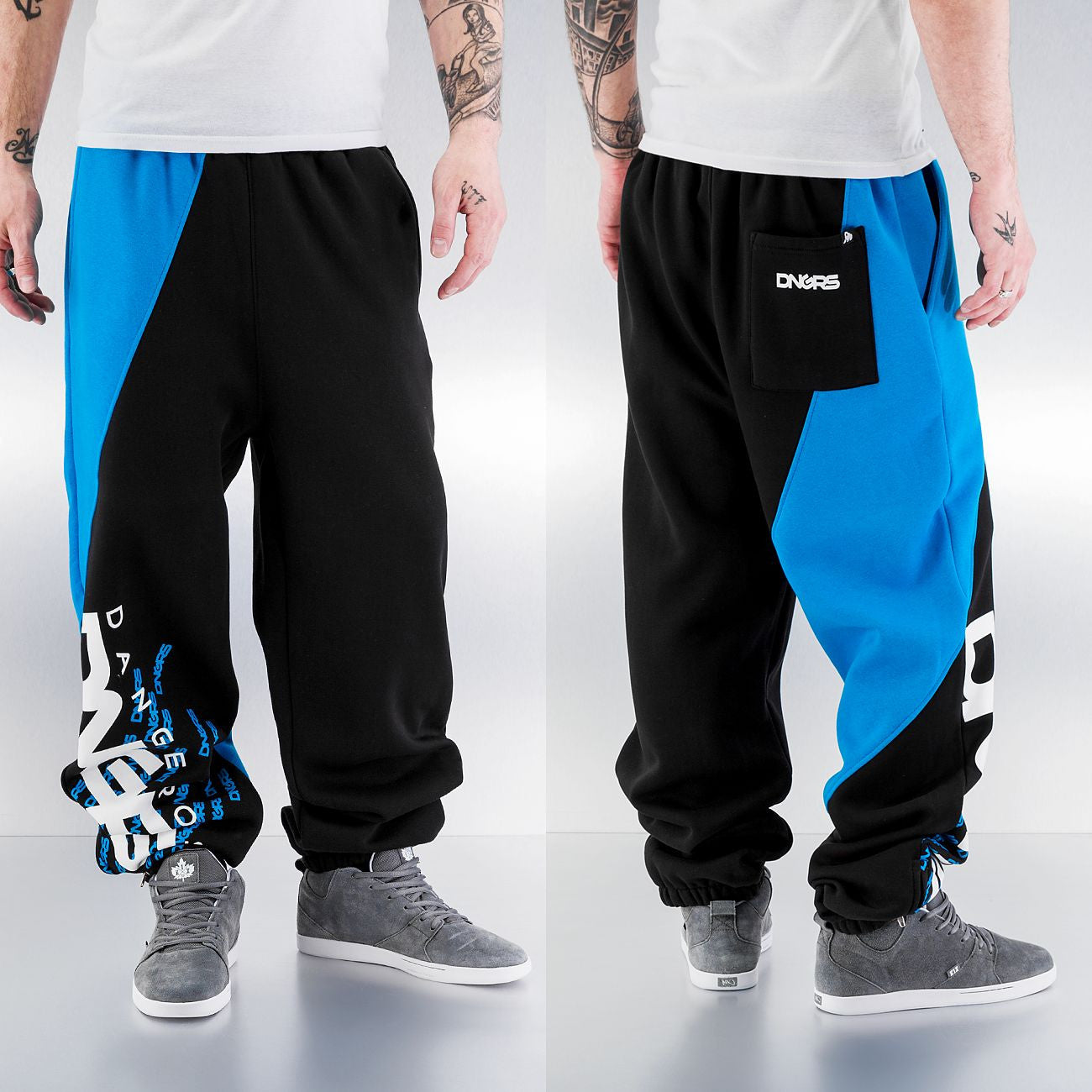 Dangerous DNGRS Santiago Sweat Pants Black/Turquoise Black