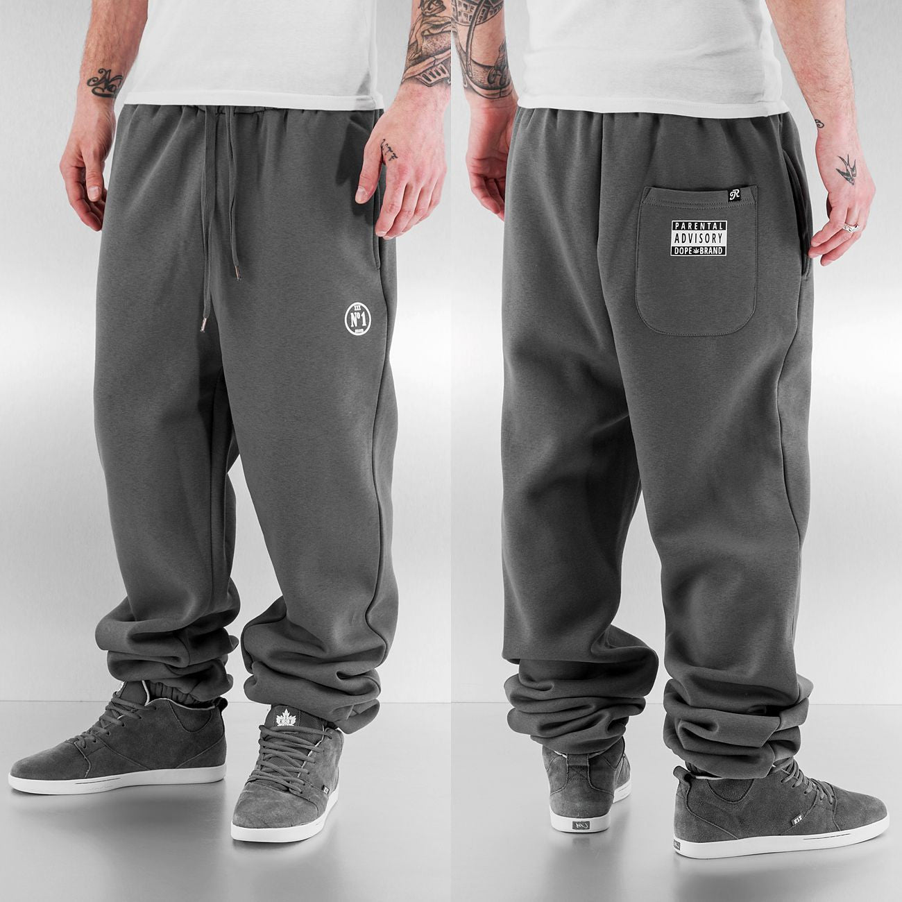Just Rhyse Basic Sweat Pants  Grey