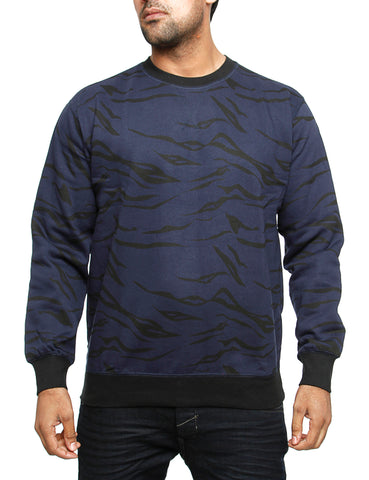 Imperious Tiger Print Crewneck CS12 Navy