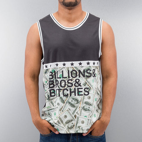 Just Rhyse Billions Bros Bitches Tank Top  Black
