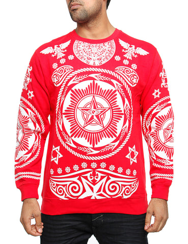 Imperious CS64 Hiero Crewneck Sweatshirt Red
