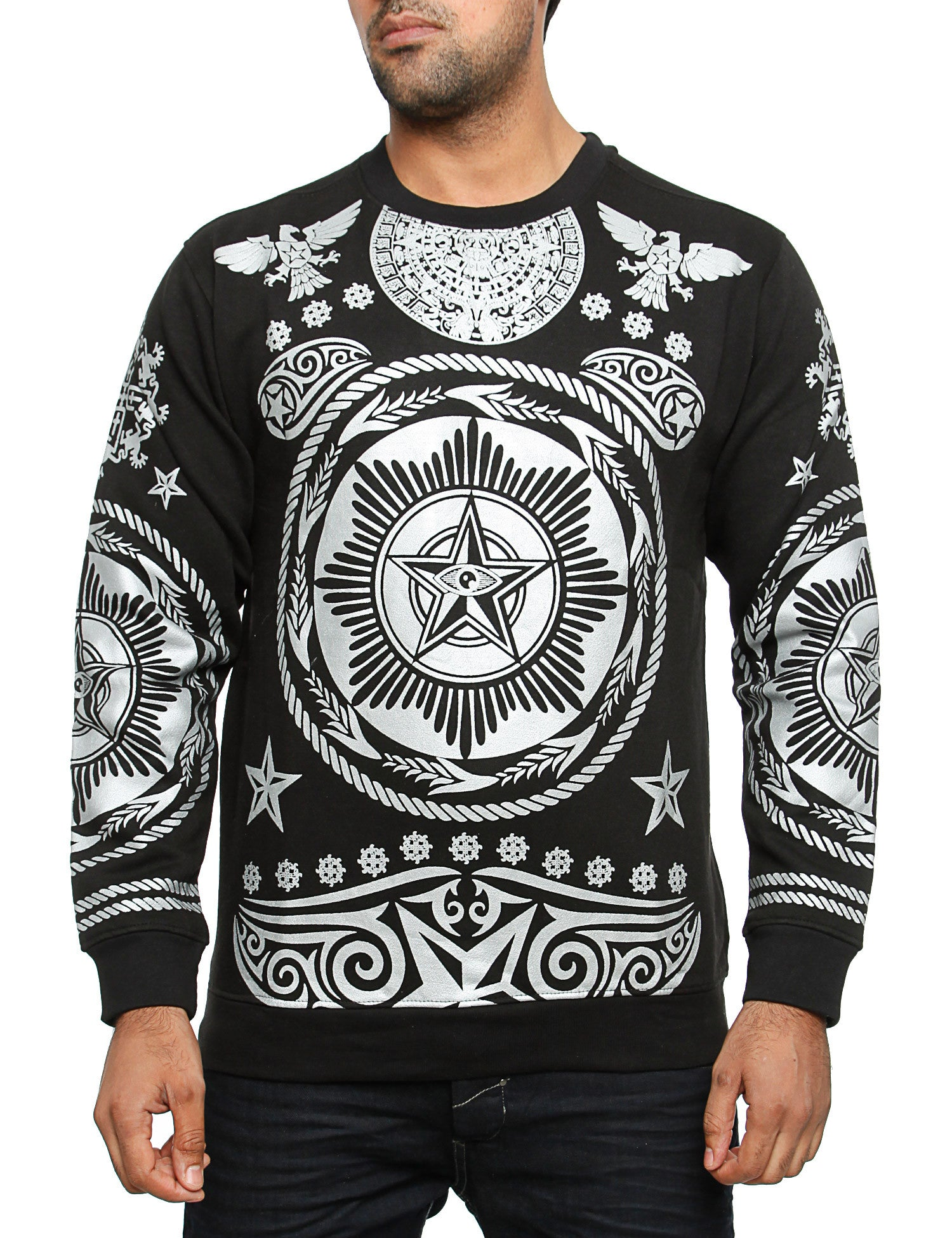 Imperious CS64 Hiero Crewneck Sweatshirt Silver