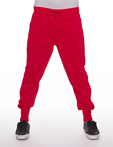 Basic Fleece Sweatpant Red