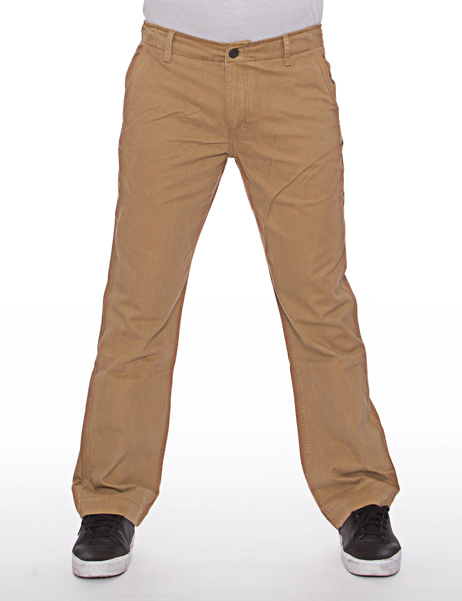 Royal Blue Basic Slim Straight Fit Chino Pant Brown