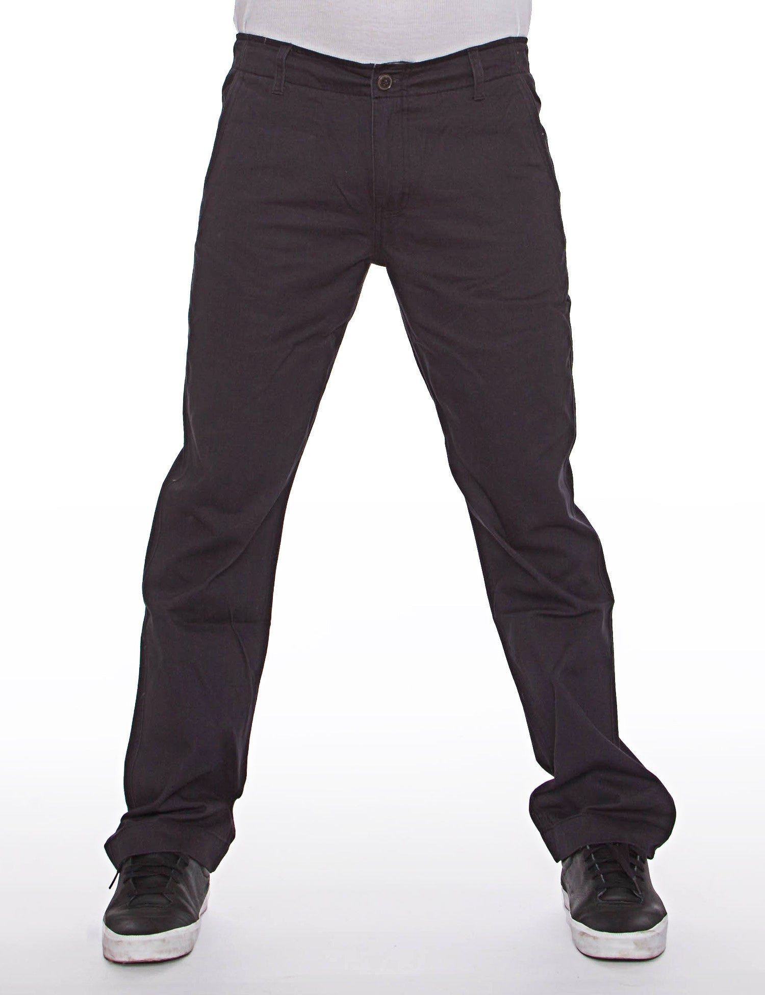 Royal Blue Basic Slim Straight Fit Chino Pant Navy