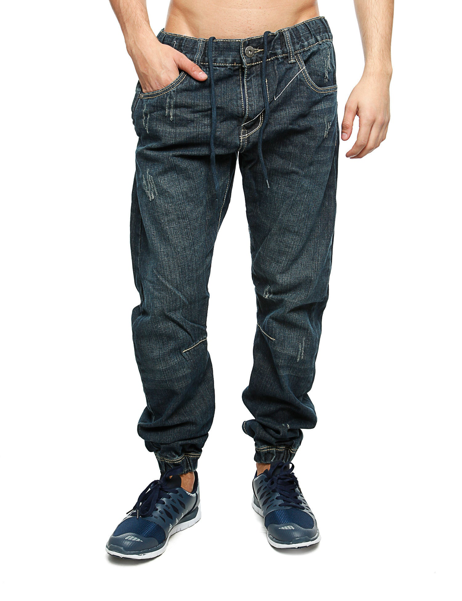 Royal Blue Denim Sweatpant 87012 Blue