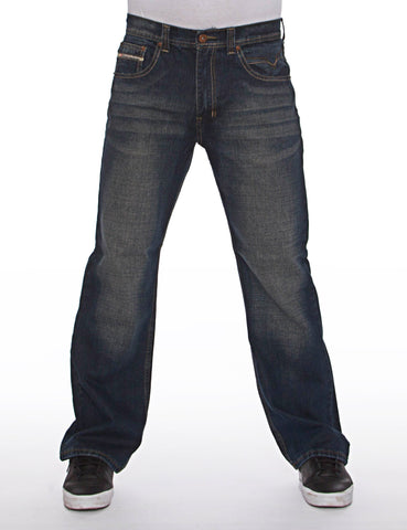 Royal Blue Basic Straight Denim 8208 Dark Blue