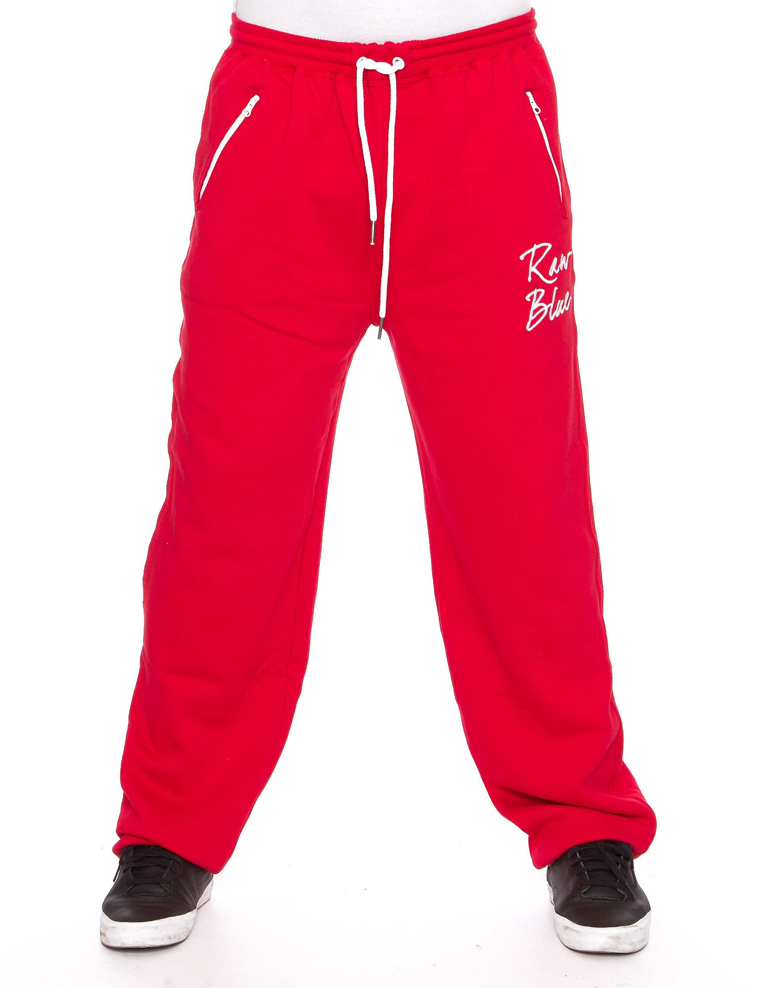 Raw Blue Fleece Jogger PantS RBB-SP-002 Red