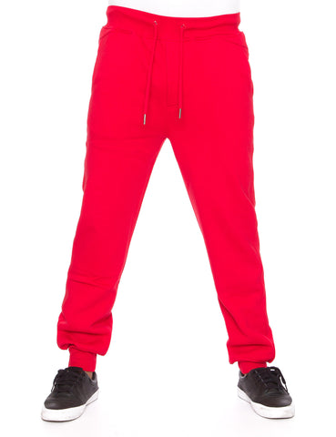 Raw Blue Fleece Jogger Pants RBB-SP-007 Red