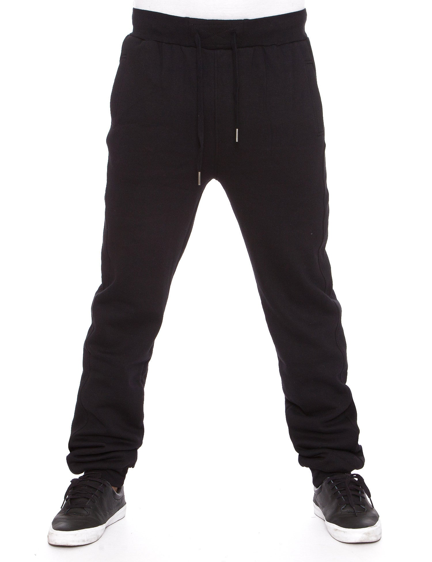 Raw Blue Fleece Jogger Pants RBB-SP-009 Black