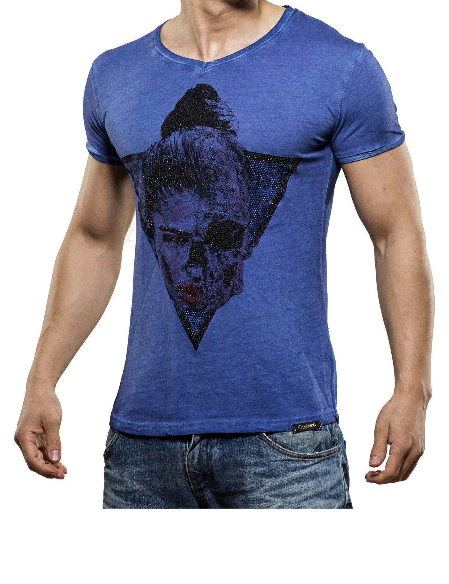 Half Skull T-Shirt Dark Blue