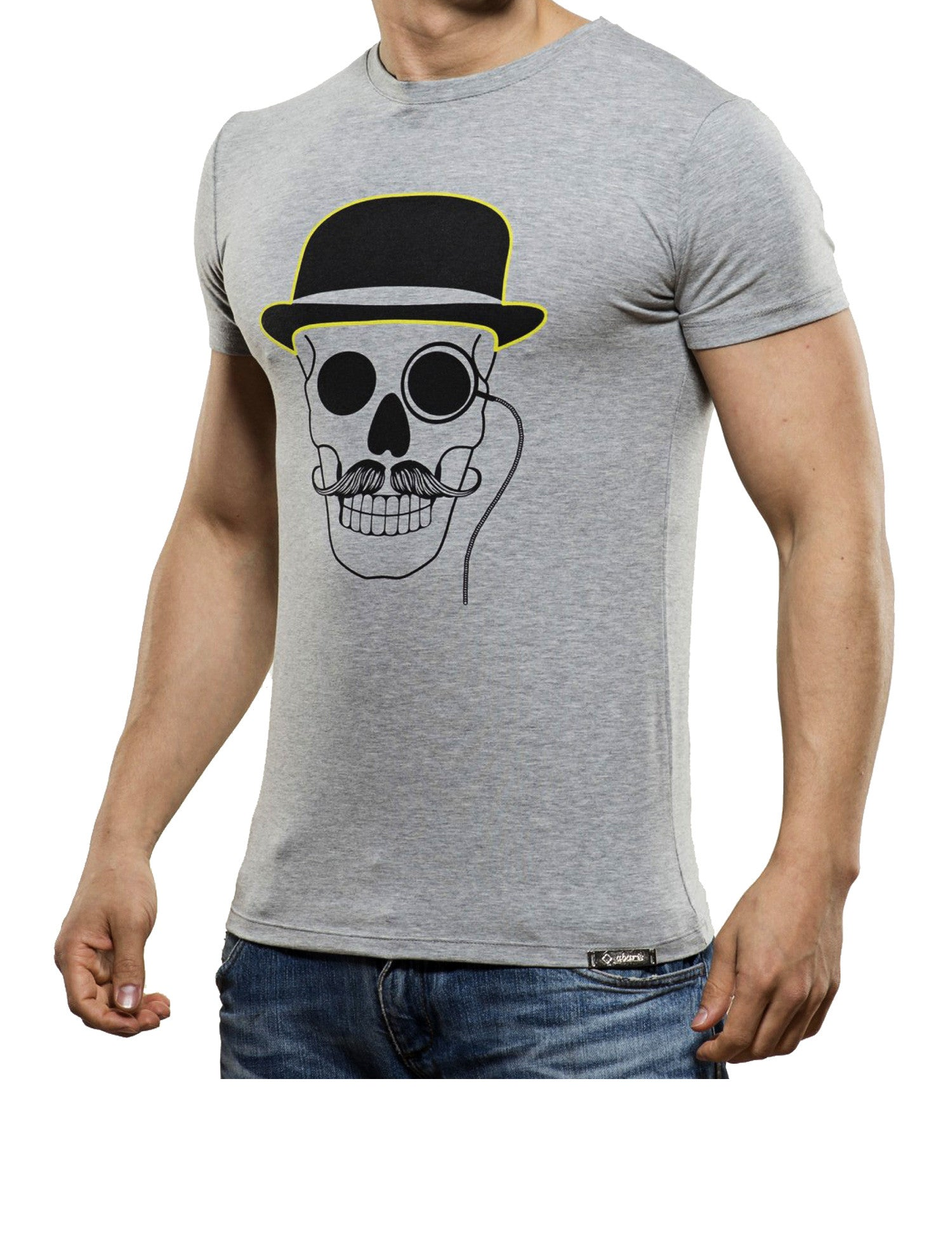 Monocle Skull T-Shirt Grey