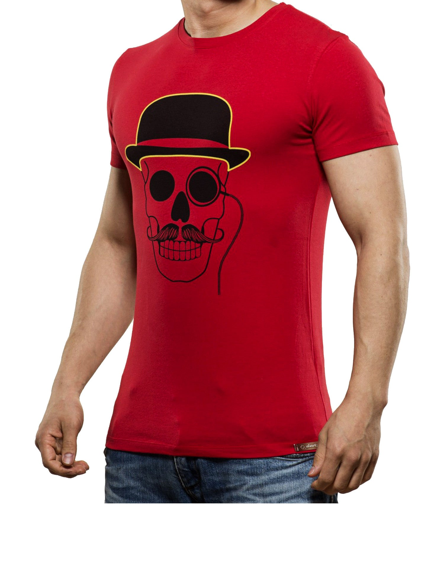 Monocle Skull T-Shirt Red