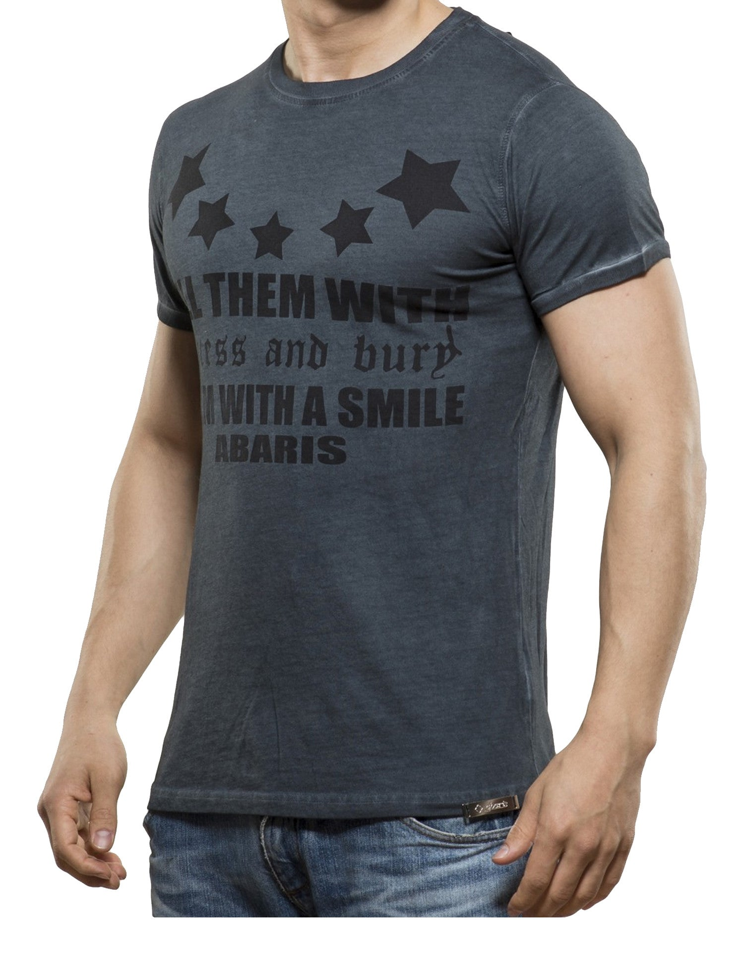Kill them with a Smile T-Shirt Anthracite Grey