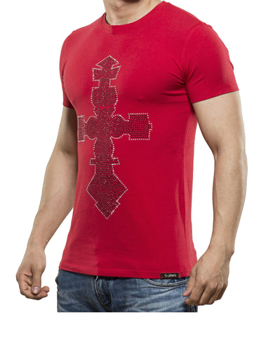 Cross T-Shirt Red