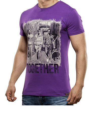 Young together T-Shirt Purple