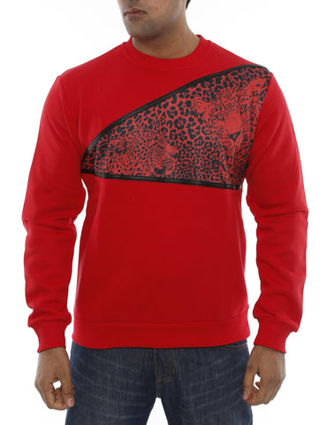 Animal Crewneck 14-3470 Red