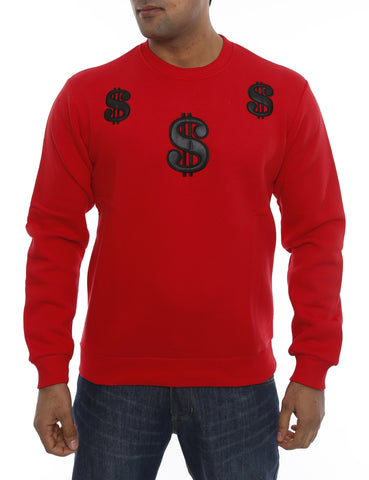 Dollar Crewneck 14-3460 Red