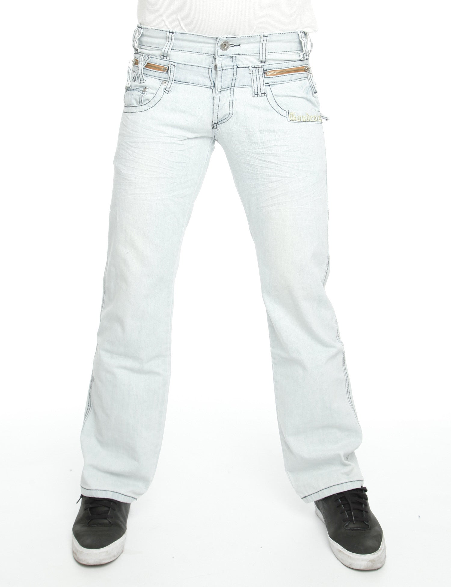 Free Side 3710-W Jeans White Blue
