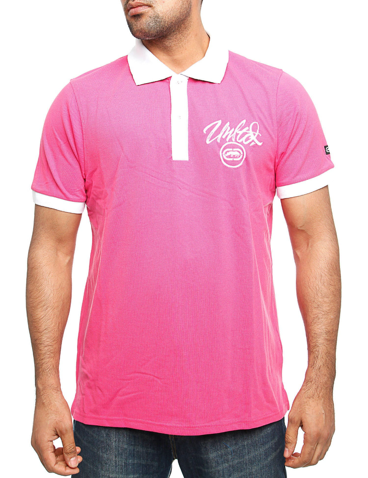 Image of Ecko Comet Polo Shirt Pink