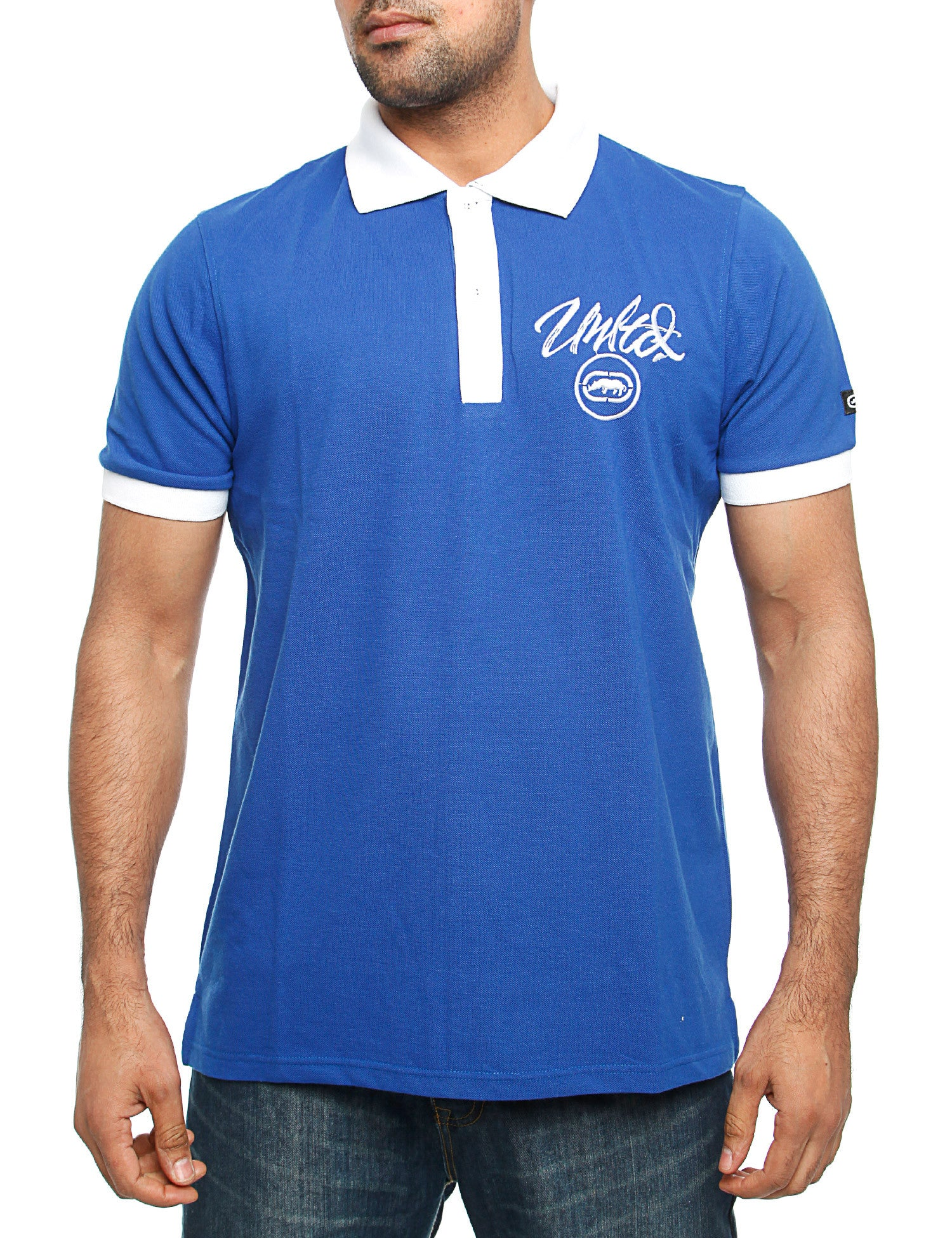 Image of Ecko Comet Polo Shirt Blue