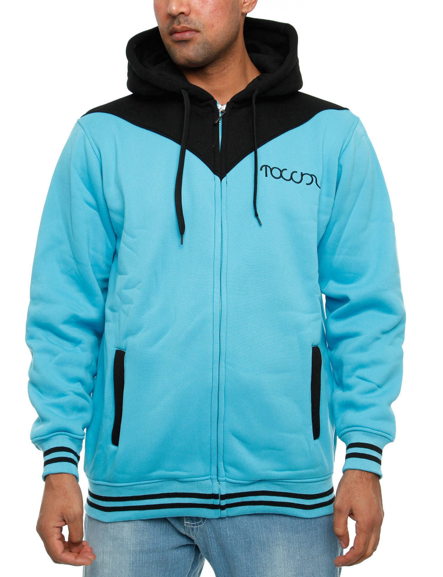 Townz Zip Hoody RWD-152A Turquoise