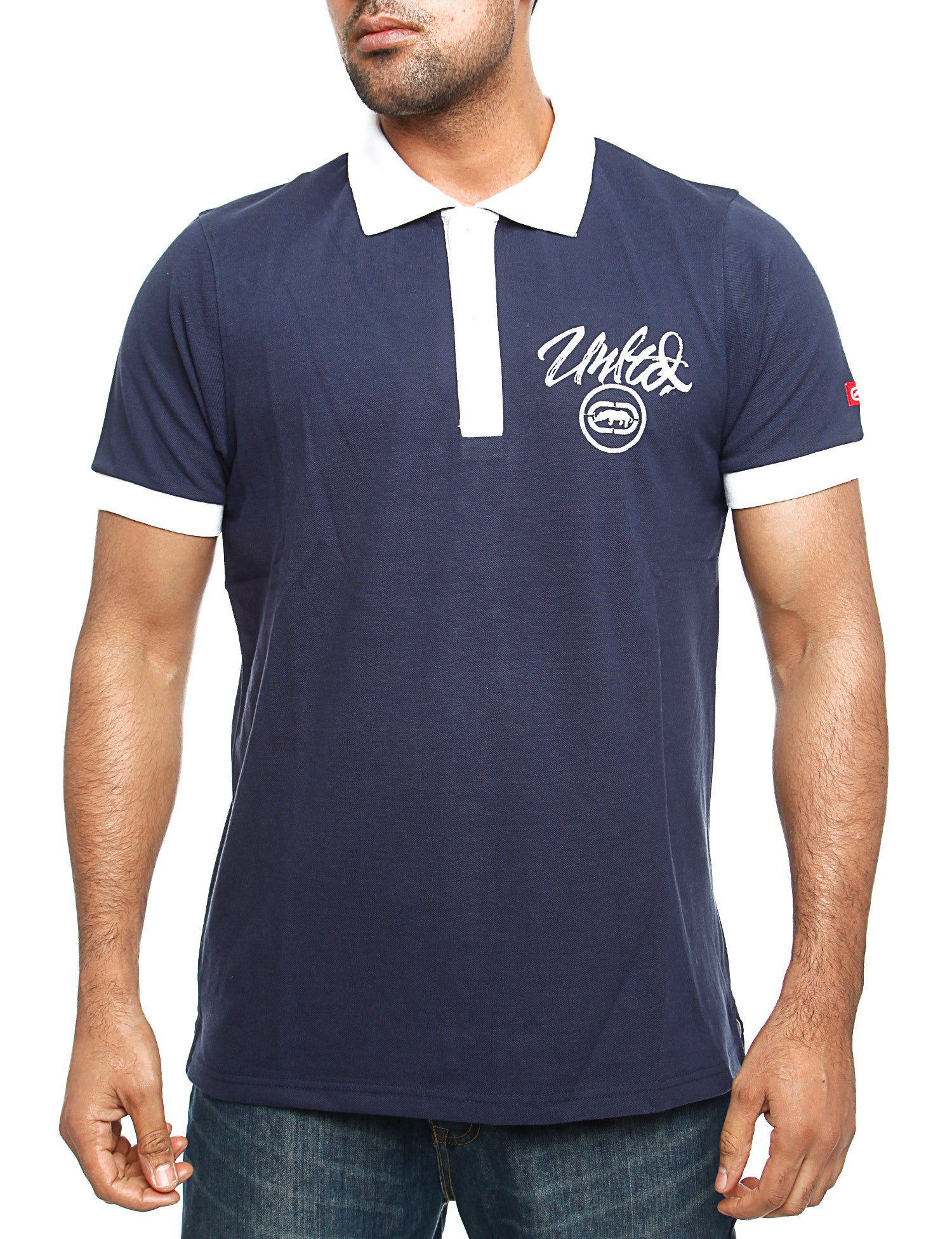 Image of Ecko Midliner Polo Shirt Navy