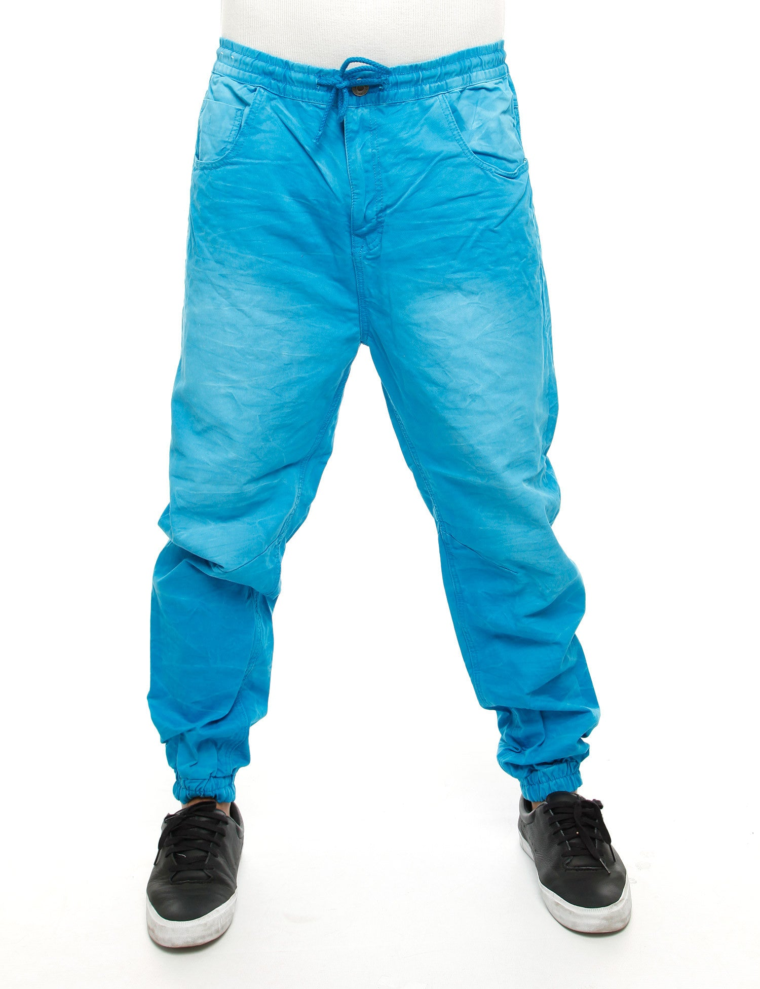 Royal Blue Jogger Jeans 8394 Turquoise