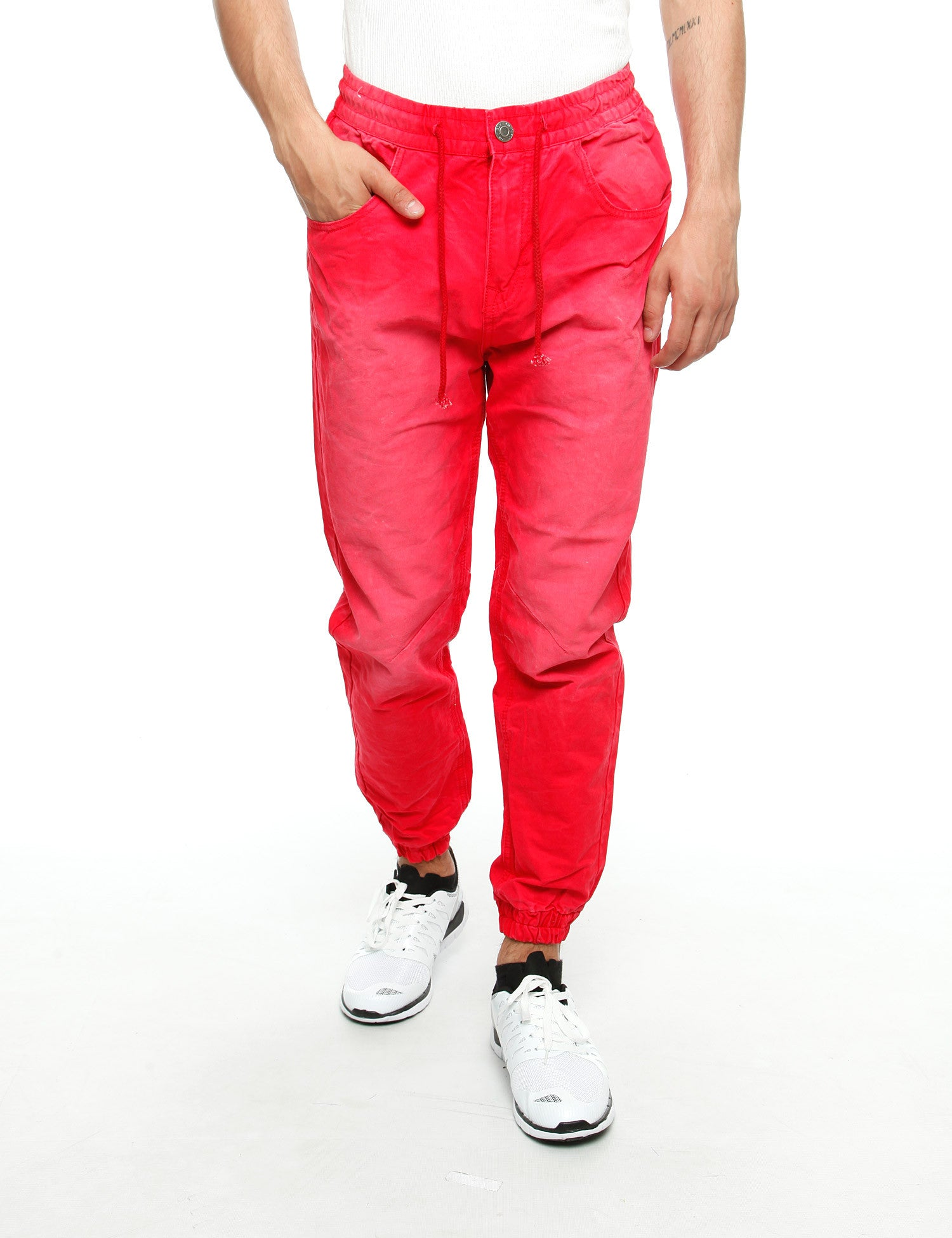 Royal Blue Jogger Jeans 8394 Red