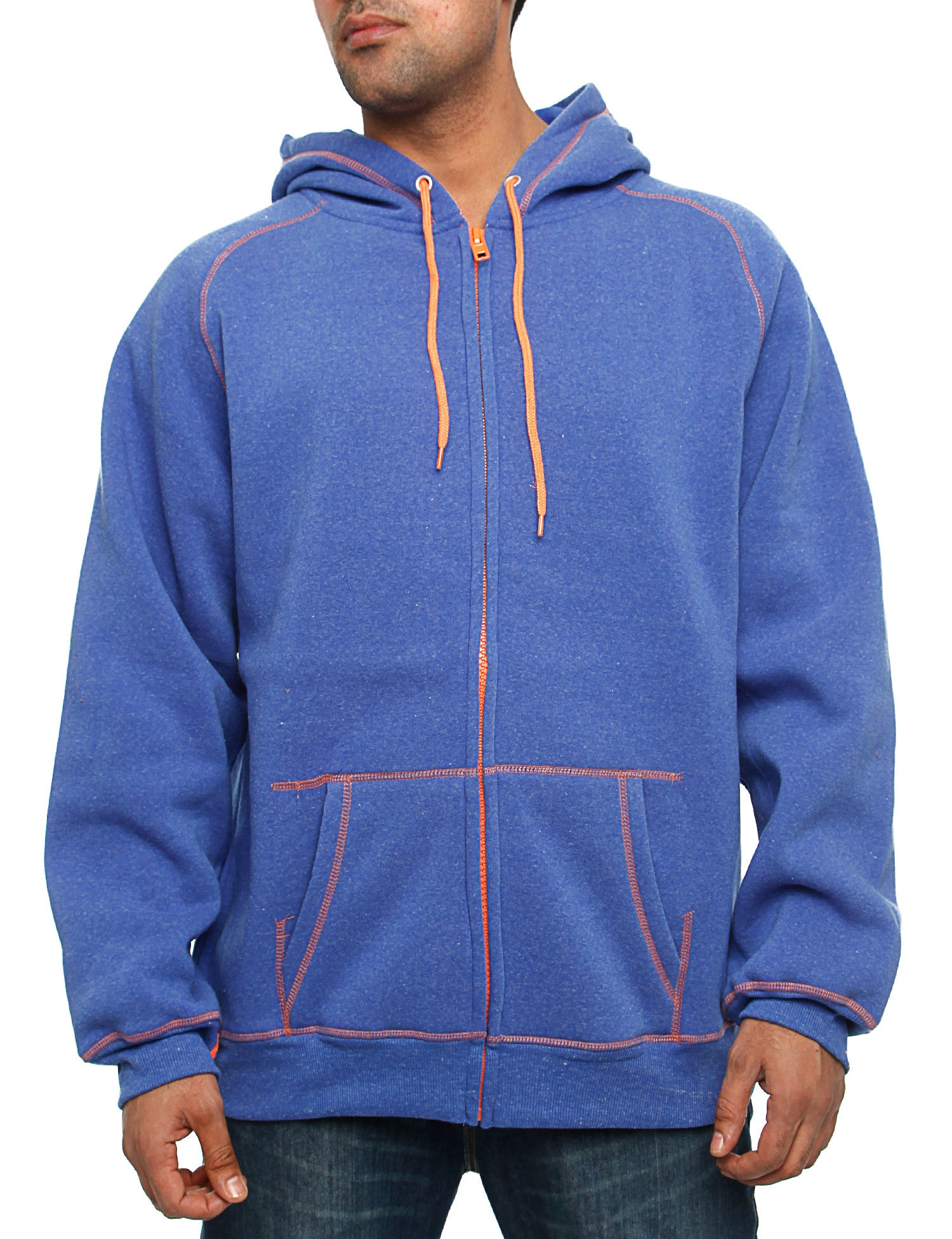 Royal Blue Zip Hoodie 44013 Ink Blue