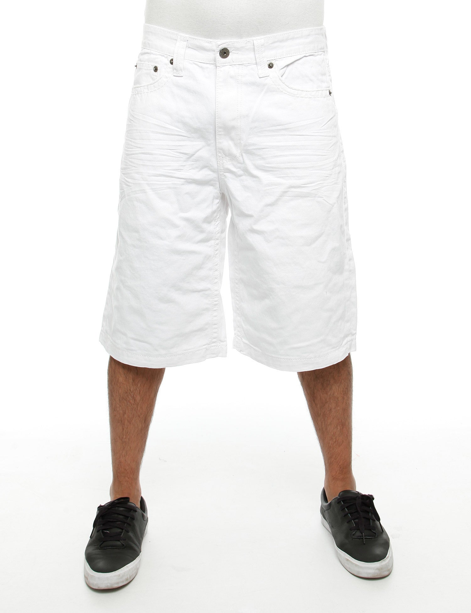 Royal Blue Shorts 9013 White