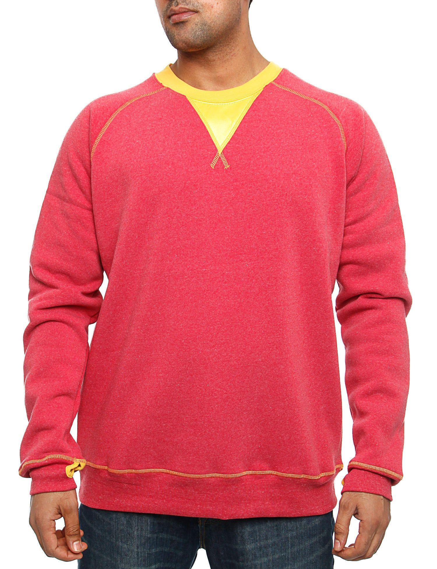 Royal Blue Crewneck 44012 Burgundy Red