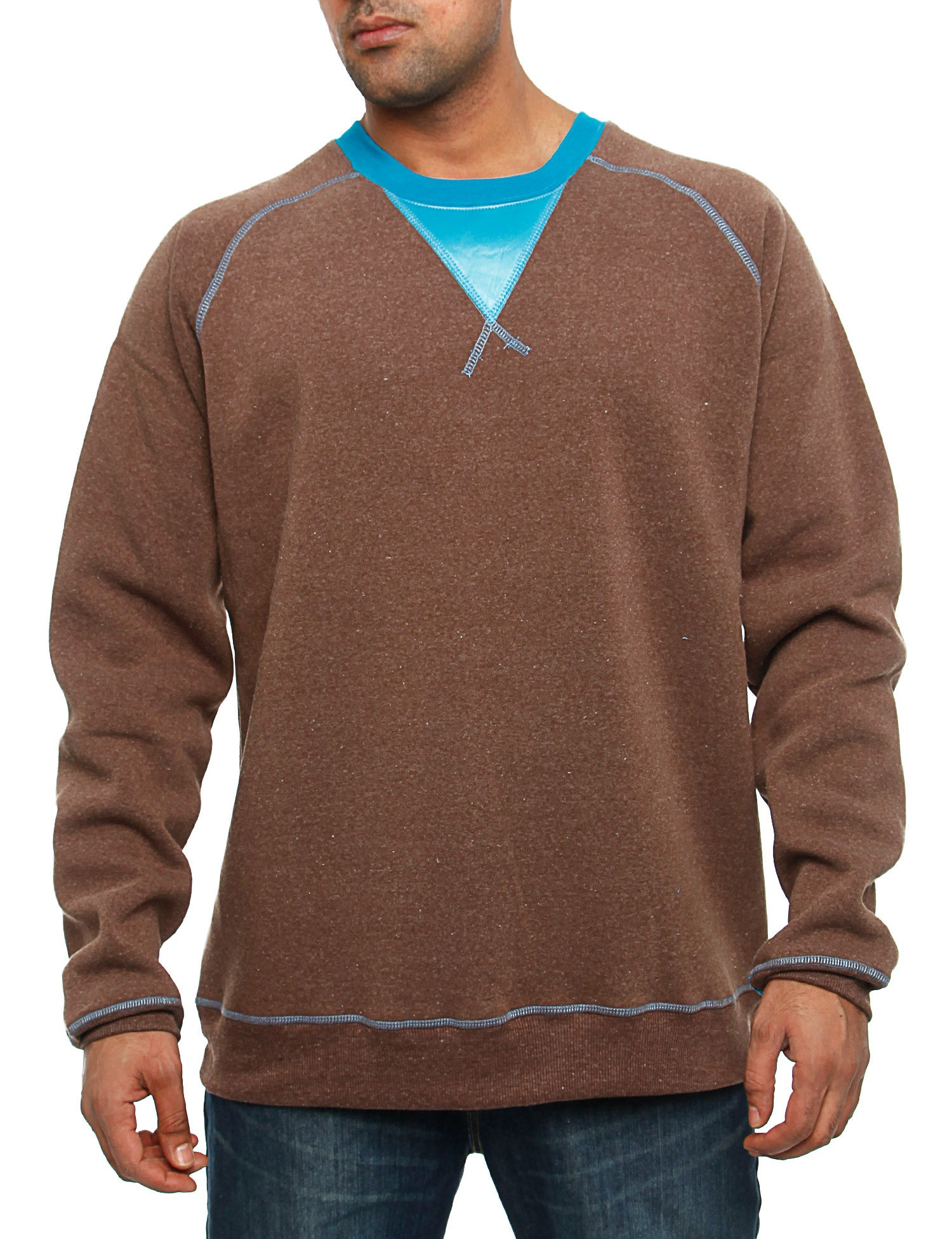 Royal Blue Crewneck 44012 Brown