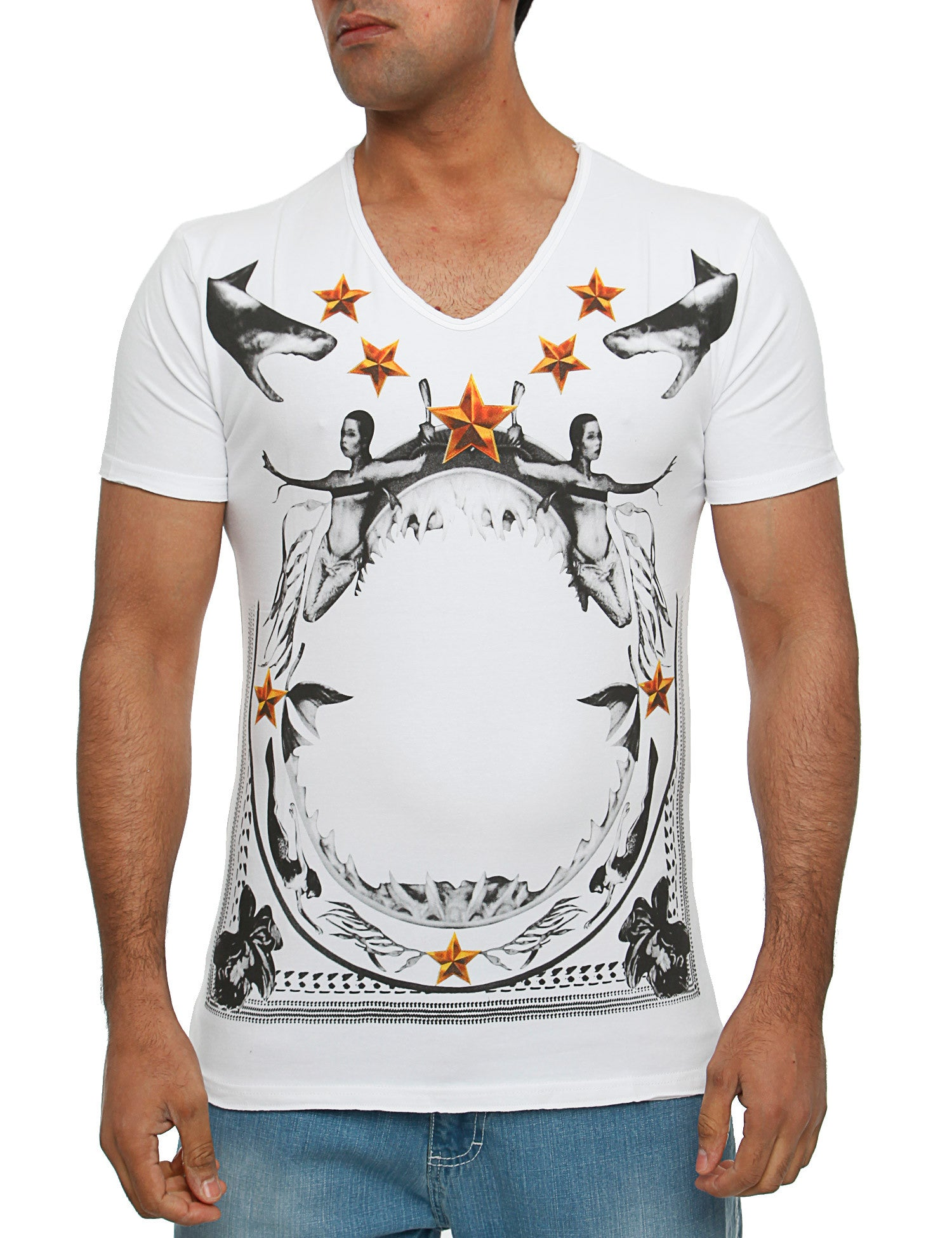 Abaris Angel Stars T-Shirt SS14-07 White