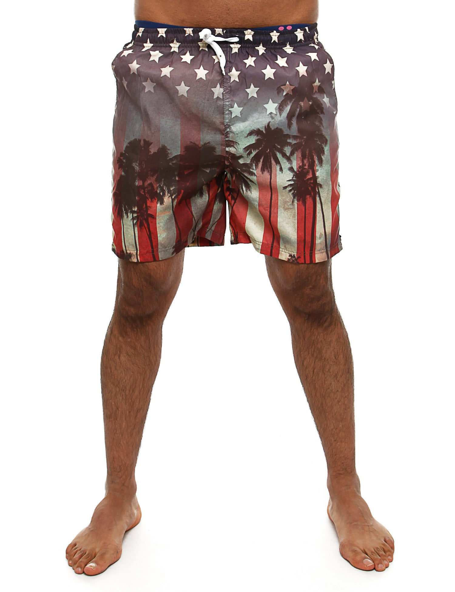 Soul Star MST Sunstripe Swim Shorts Multi