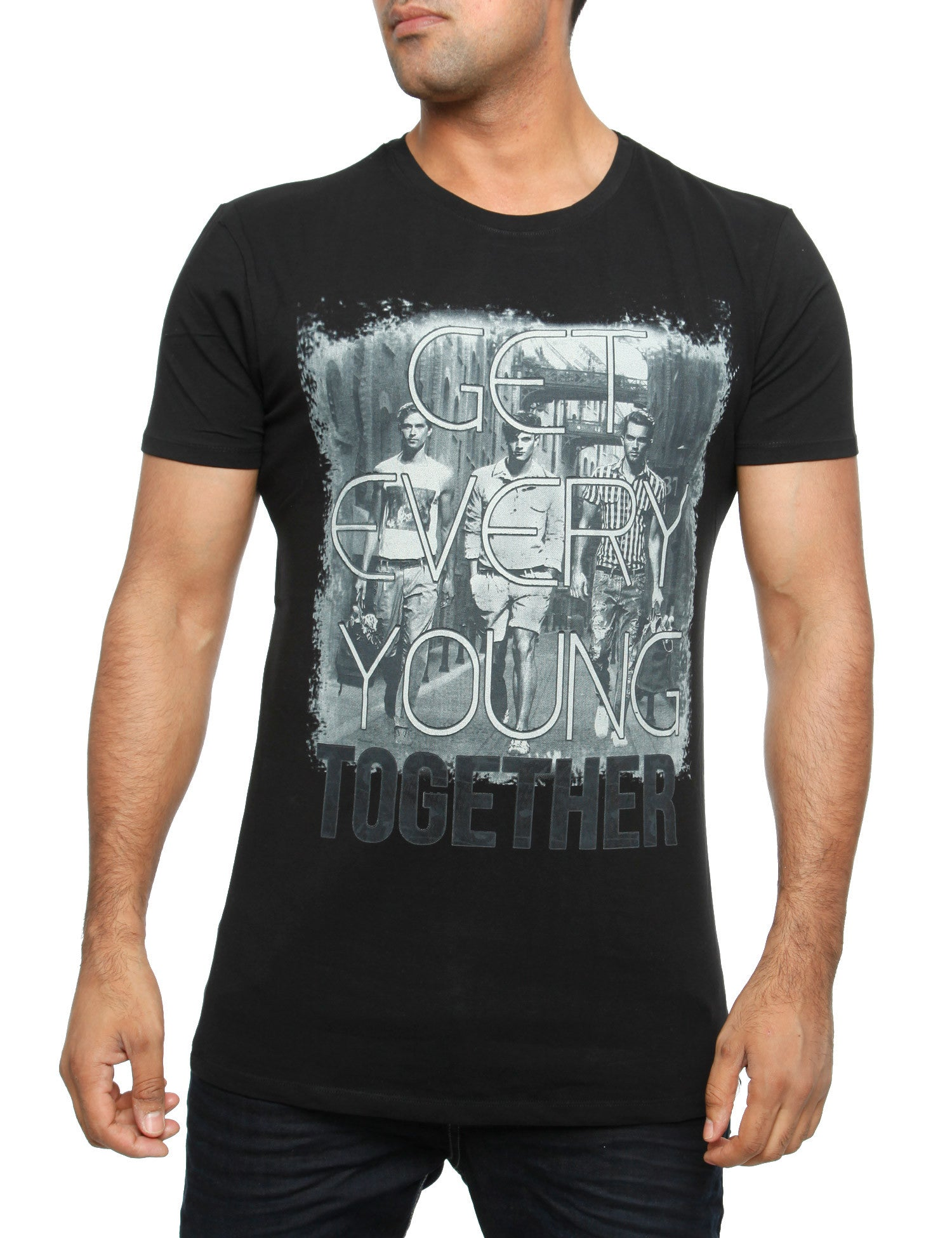 Young together T-Shirt Anthracite Grey