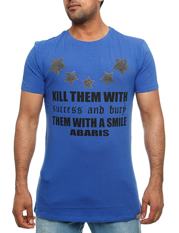 All them with a Smile T-Shirt Royal Blue