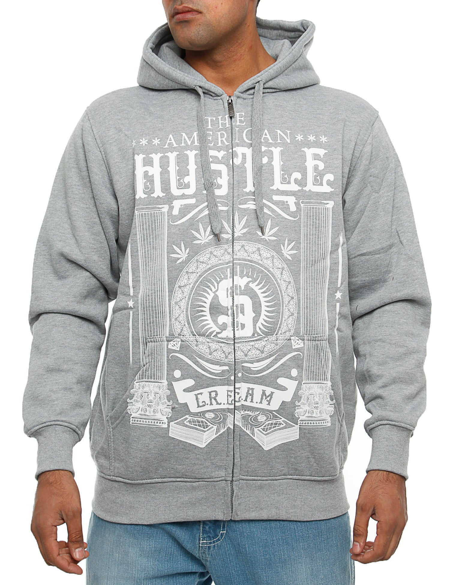 YLD ZHD-253B Zip Hoody Light Grey