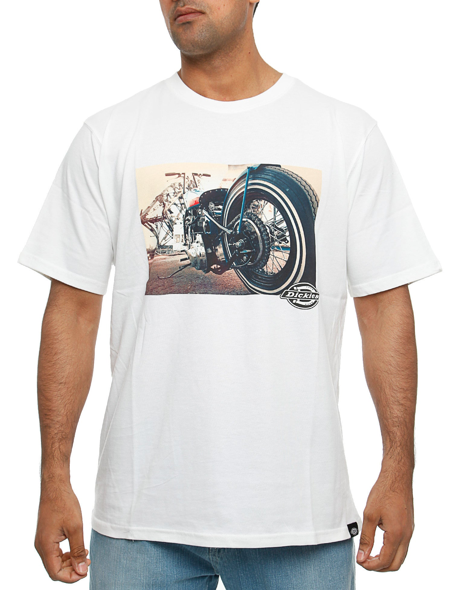 Dickies Hot Rod Wheel T-Shirt White