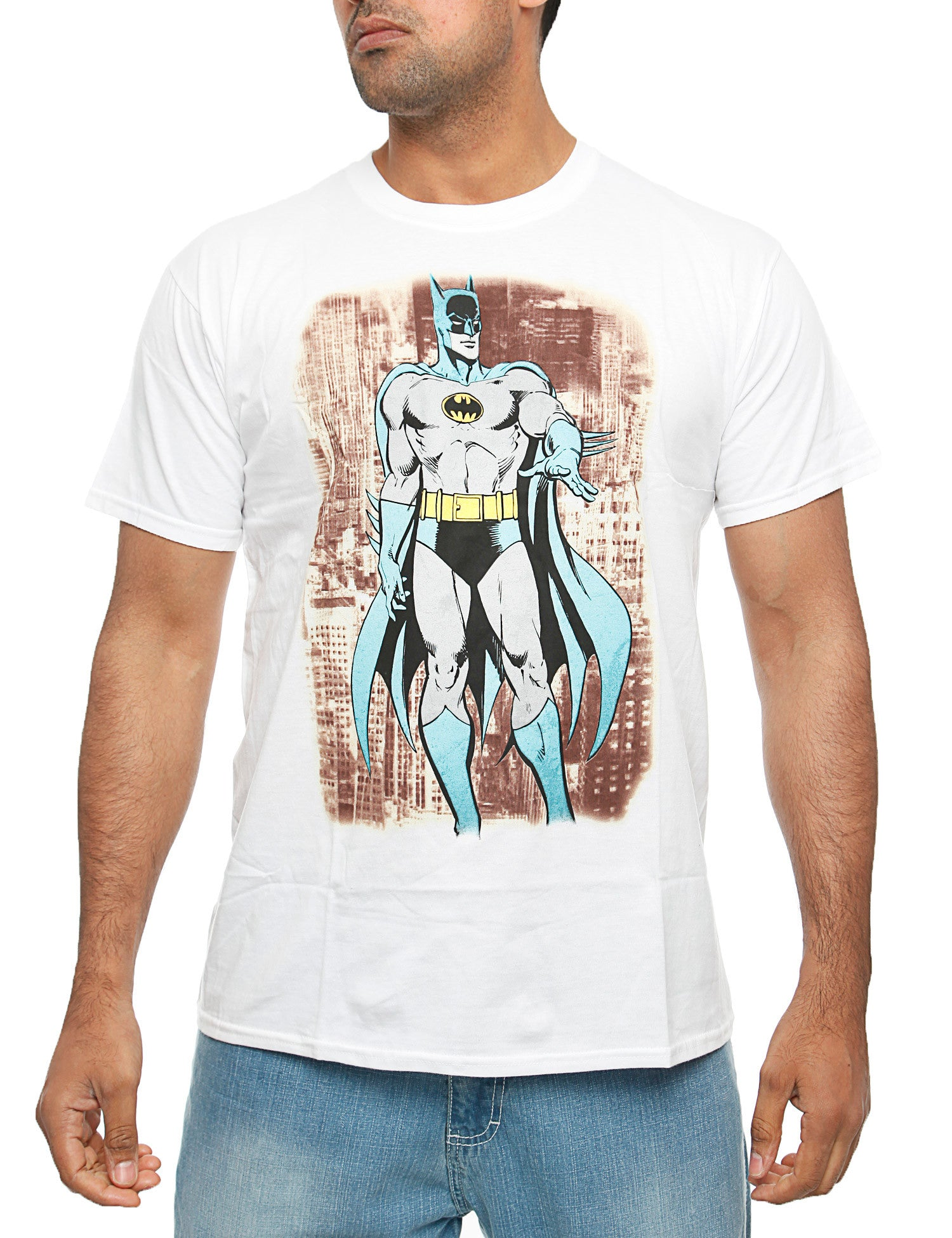 Batman Tee Grey Blue White