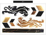Gleams Metallic Tattoo Gold Black